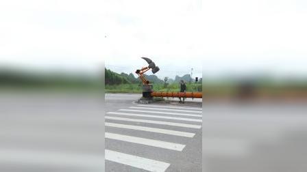 防止汽车行人闯红灯拦截设备,这个设计怎样?