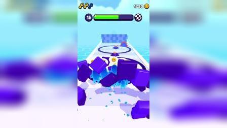 果冻人向前冲:小蓝出动,一拳打到6分区。