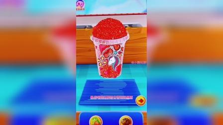 趣味小游戏,做一杯巧克力草莓果汁