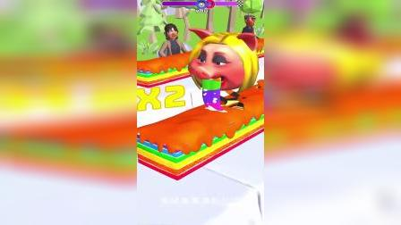 趣味小游戏:猪大婶来挑战大胃王比赛啦!