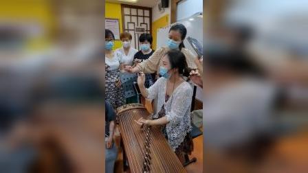 【古筝】秦老师讲解示范摇指手型运动轨迹 2021.07.20员宫