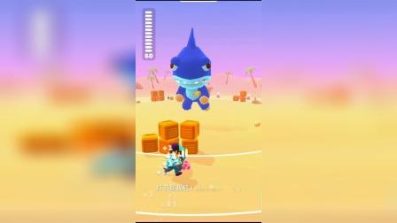 解压小游戏:大鲨鱼的武器的小金鱼!