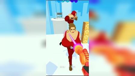 解压小游戏:激光对准谁,谁就变成气球人飞走了!