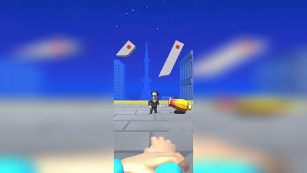 趣味小游戏:我的手指可以发射激光,墙壁都被我切了