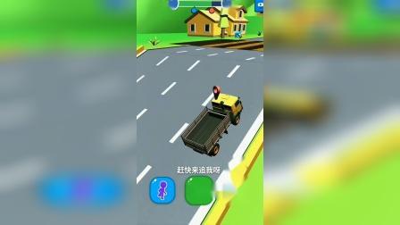 趣味小游戏:我的小卡车,比他们的小车快多了