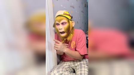 猴哥已经很小心了,没想到还是被妈妈发现。