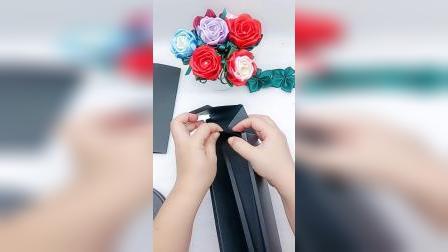 玫瑰花笔盒子折叠方法