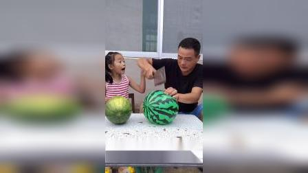 宝贝这西瓜怎么切不动啊?