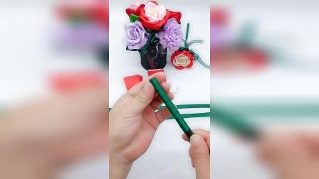 22丝带玫瑰花笔教程
