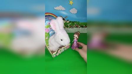 贝儿晚上不睡觉,去找小白兔玩,可小白兔不喜欢贝儿