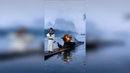 李白乘筏夜游江