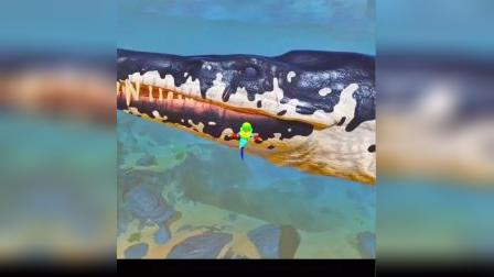 海底大猎杀:为打败蟹子王,进化成黄金机械鲨鱼!