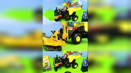 儿童益智玩具乐园:翻斗车、挖掘机、火车、环卫车!