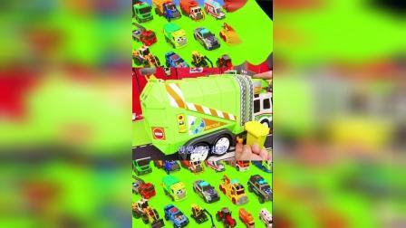 儿童益智玩具乐园:环卫车、直升机、警车、消防车!