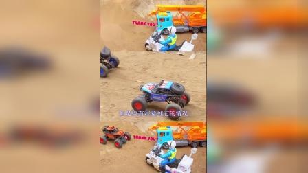 儿童益智玩具:吊车、警车救援事故越野车!