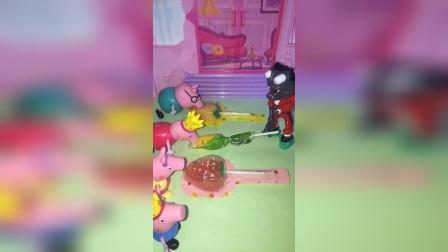 僵尸问乔治一家要糖吃,没想到乔治和僵尸待遇一样