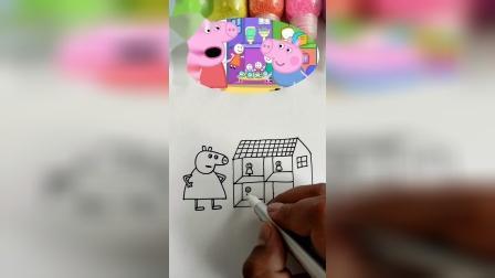 小猪佩奇简笔画,干嘛叉腰呢?