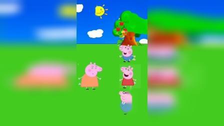 乔治佩奇和猪爸爸假扮成怪兽,猪妈妈吓了一跳