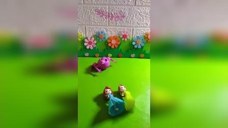 蛤蟆精抓走了公主们的宝宝